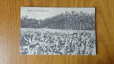 CARTOLINA LIBIA BENGASI UN MERCATO NELL' INTERNO VIAGGIATA DEL 1912 SUBALPINA