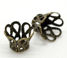 260 Perles Coupelles Couleur Bronze 9x7mm