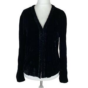 Laura Ashley Black Velvet Lightweight Jacket. UK Size medium. EXC COND.