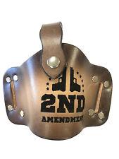 Leather Gun Holster Retention Strap Fits Beretta Nano 2nd Amendment Engraved