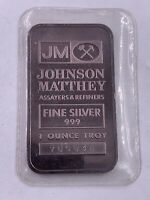 1 Oz .999 Silver Johnson Matthey Bar Sealed