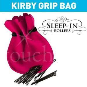 Kirby Clips for  Sleep in Rollers with Hot Pink Pouch Bag - 20 Grips