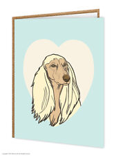 Afghan / Dog Lovers / Birthday / Greetings Card / Brainbox Candy / Cute