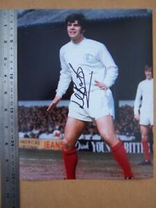 Football  Mick Bates  Leeds      Autograph (file CHJ)
