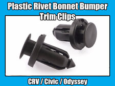 Recorte Clip Remache Capó Parachoques 10x Plástico Negro Para Honda Nissan CRV Civic