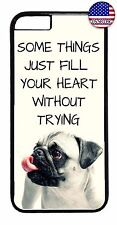 Cute Case Cover For Apple iPhone 7 / 7 plus Pug Puppy Dog Paws Animal Love Quote