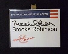Orioles Brooks Robinson National Constitution Center Badge Tag  Autograph