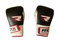 RDX Boxing Gloves Cow Hide Leather MMA Fighting Muay Thai