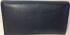 Fossil Women's Wallet Caroline Flap Clutch Continental Black Leather NWT  RFID