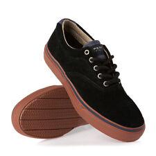 Sperry Mens Laceless Striper Suede Fashion Sneaker Boat Shoe Black New Size 7.5