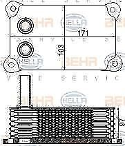 NEW HELLA OIL COOLER FORD TRANSIT 8MO376797-161