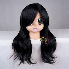 Schwarz 55cm Cosplay Perücke for Adventure Time Marceline the Vampire Queen Wig