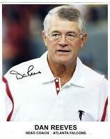 Autographed Signed Dan Reeves Falcons 8x10 Photo w/coa jhaut