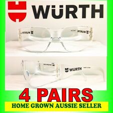 """WURTH SAFETY GLASSES  4 PAIRS �€"""" CLEAR, UV PROTECTION, POLYCARBONATE"""
