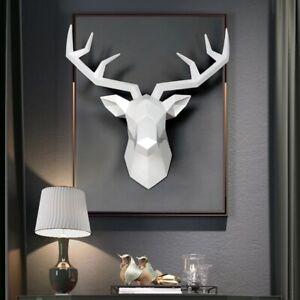 Home Decoration Wall Stag Deer Head 3D Statue,Sculpture, Modern Statue Art