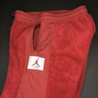 Nike Air Jordan Wings Of Flight Fleece Sherpa Pants Joggers RED Size Large