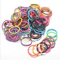 100Pcs Baby Girls Simple Infant Toddler Scrunchies Hair Bands Tie Rope Ponytail