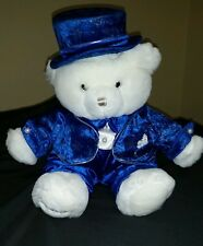 Dan Dee Collector's Choice White Royal Blue Winter Bear 2003
