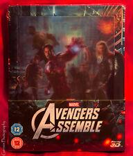Avengers: Assemble  Zavvi 3D & 2D Blu-Ray Steelbook  + Avengers Art Cards