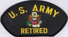 """lot of 2 US ARMY NATIONAL GUARD RESERVE RETIRED Embroidered Patches 2.75""""x5.25"""""""