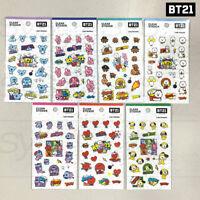 BTS BT21 Official Authentic Goods Clear Sticker Ver2 7SET by Kumhong Fancy