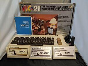 Commodore Vic-20 Personal Home Computer Original Box Cords Manuals Games Works