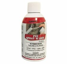 Vapco PVC Spray N' Lock Sealant Bonds Wet & Dry PVC, CPVC, ABS, SWV, Clear