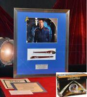 STAR TREK Prop FORK & SPOON, Signed SCOTT BAKULA Autograph, DVD, COA UACC, Frame