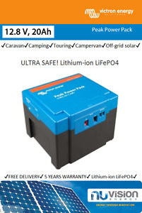 Peak Power Pack by Victron 12.8 V, 20Ah ULTRA SAFE Lithium-ion LiFePO4 Battery