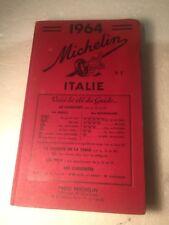 1964 Michelin Road Trip Guide/Book Italie 409 Pg Vintage
