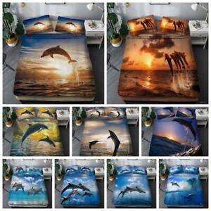 Animals Dolphin Doona Quilt Duvet Cover Set Bedding Set Single Double Queen Size