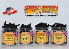 Wild berry Backflow Burner Incense Cones Hollow Bullet 10+Flavors--5/10/25 US