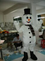 Snowman Mascot Costume Suit Cosplay Party Game Xmas Adult Dress Outfit Halloween
