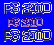 RSH 2000 X 3 Calcomanías Pegatinas.