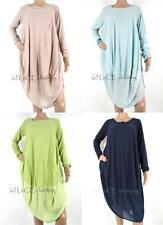 Viscose Patternless Asymmetric Hem Dresses for Women