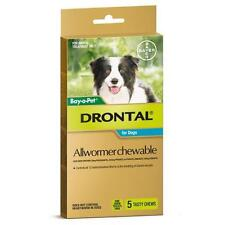 Drontal AllWormer Chews for dogs 5 Chews Small/Medium Dog by Bay O Pet