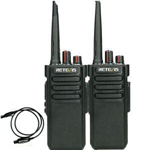 Retevis RT29 VHF Waterproof Two way radios Long Range 10W Walkie Talkies (2pcs)