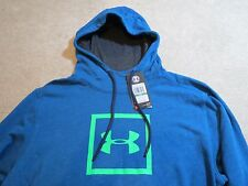 UNDER ARMOUR Large LG Tri-Blend Blue Green Pullover Hoodie Jacket 1288672 779