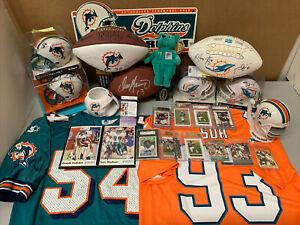 Miami Dolphins Dan Marino Signed Lot Football Mini Helmet Jersey Photo RC Stein