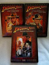 New listing Lot 3- Indiana Jones, Raiders of the Lost Ark -Last Crusade-Bonus Material Dvd