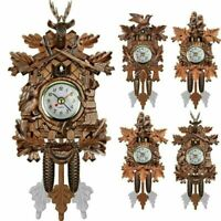 New Classic Vintage Cuckoo Clock Forest Quartz Swing Wall Alarm Handmade Decor