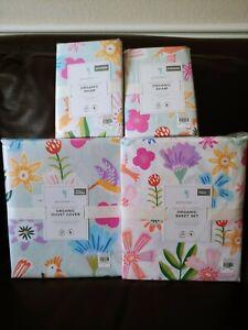 Pottery barn kids Naomi Floral Full Queen Duvet Standard Sham Full Sheet Flower