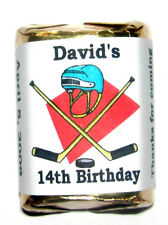 60 HOCKEY BIRTHDAY PARTY CANDY WRAPPERS