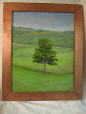 Landscape with a Tree Original Painting on Canvas signed framed
