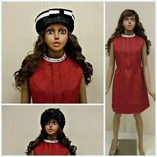 FEMALE TEENAGER MANNEQUIN VINTAGE DARK SKIN FREE LONG HAIRED WIG FREE DELIVERY