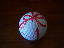 LOGO GOLF BALL-RED RIBBON WITH NOTE...GREAT GIFT......NEW!!!!
