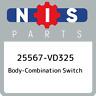25567-VD325 Nissan Body-combination switch 25567VD325, New Genuine OEM Part