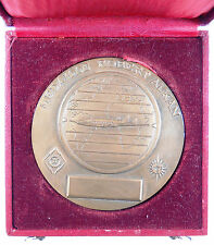 1957 France  airplane THE ROBERT ALKAN MEDAL FOR AVIATION bronze 68mm by Cochet