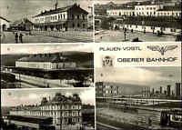 PLAUEN Vogtland Oberer Bahnhof DDR Postkarte Mehrbildkarte Ansichtskarte ca 1975