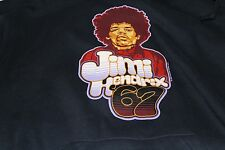 JIM HENDRIX '67 AUTHENTIC ODM  HOODED BLACK SWEATSHIRT-LARGE COTTON BLEND
